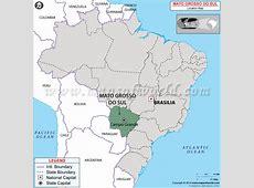 Where is Mato Grosso Do Sul Located in Brazil Map