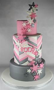 Pink and Silver Snowflake Cake Lil' Miss Cakes