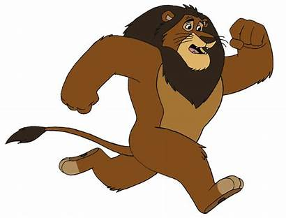 Lion Animation Scared Running Animated Clipart Cartoon