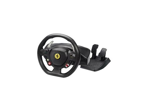 If it had force feed back and the wheel was a little bigger it would get a 5 star rating. Thrustmaster Ferrari 458 Italia wheel | eBay