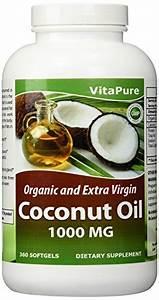 Virgin Coconut Oil Usescoconut Oil 1000 Mg 360 Softgels By Vita Pure