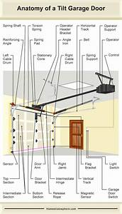 The Many Parts Of A Garage Door  Tilt And Roll Style Diagrams
