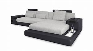 Eckcouch L Form : ecksofa couch leder wohnlandschaft stoffsofa schwarz grau eckcouch l form designsofa mit led ~ Indierocktalk.com Haus und Dekorationen