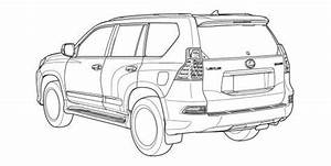 2014 lexus gx 460 facelift leaked in technical drawings With lexus land cruiser