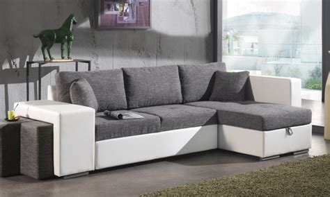 canap d angle cocooning deco salon gris et blanc cocooning