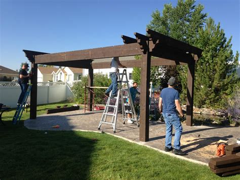 diy pergola kit backyard bed dining w privacy curtains