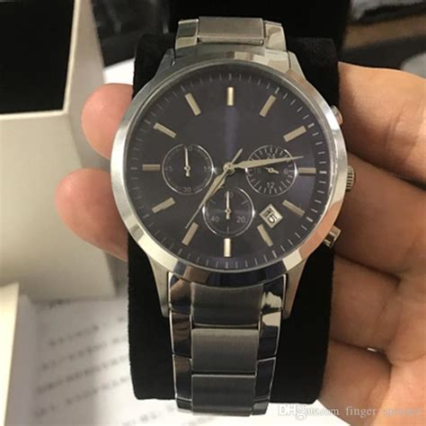 Visitors from the u.s., please visit our u.s. New AR2448 2448 Quartz Chronograph Mens Watch Japan Movement Stainless Steel Strap Gents ...