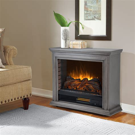 pleasant hearth sheridan mobile infrared fireplace dark