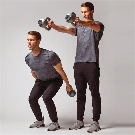 kettlebell workout mensjournal dumbbell swings muscles upper body