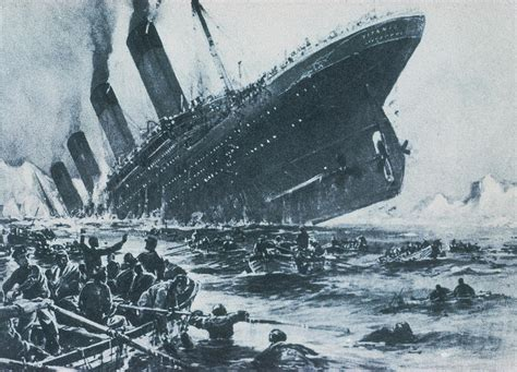 Titanic The Boat Sinking by The Gallery For Gt Real Titanic Sinking In 1912