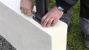 Pose De Couvertine : montage des poteaux aluclos sur muret youtube ~ Dallasstarsshop.com Idées de Décoration