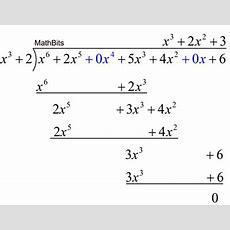 Polynomial Long Division  Mathbitsnotebook(a2  Ccss Math