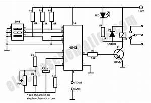 4541 timer relay circuit 03 second to 10 hours With time relay circuit