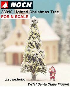 aromatic scale christmas trees noch 33910 n scale white lighted tree santa claus 2 quot new 0 shipping ebay
