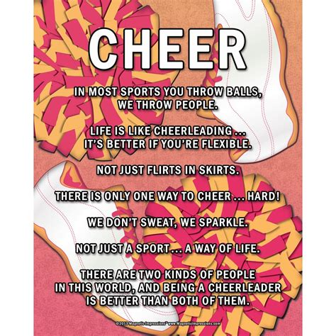 unframed cheer poms    sport poster print walmartcom walmartcom