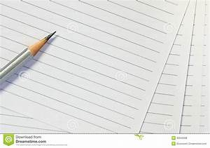 Pencil on lined paper stock photo. Image of list ...