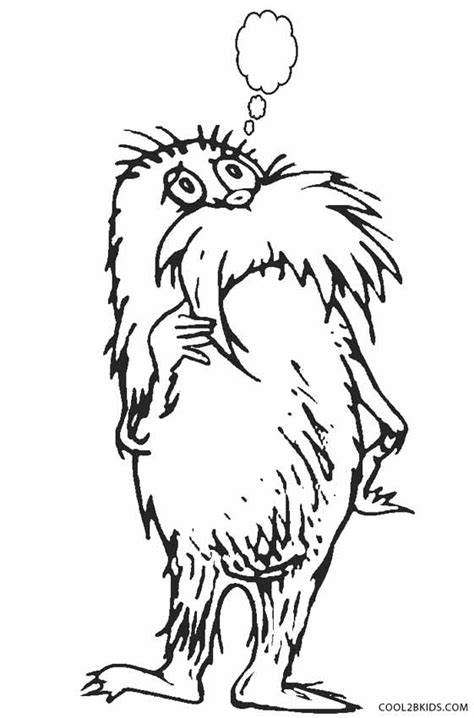 printable lorax coloring pages  kids coolbkids