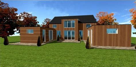 des maisons ossature bois pas chere et economique en kit ou clef en maisons bois