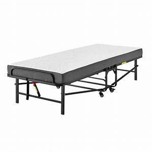 Rollaway Folding Metal Cot With 4