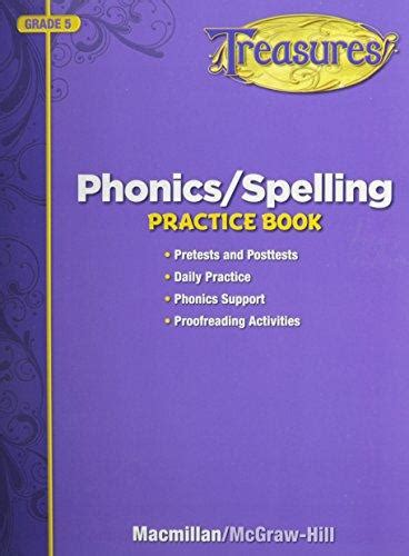 Isbn 9780022080174  Treasures Phonicsspelling Practice Book Grade 5  Pretests And Posttests