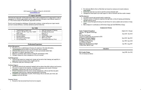Information Technology Support Specialist Resume by Sle Resume Writing Service 88