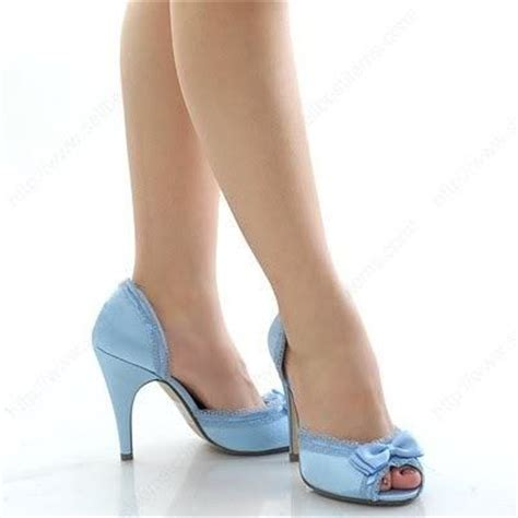 light blue heels for wedding light blue shoes with feminine lace and bow details