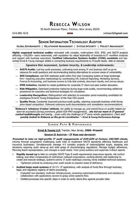 senior it auditor compliance sle resume resume