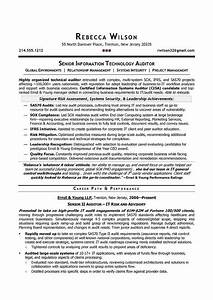 senior it auditor compliance sample resume resume With resume writer los angeles
