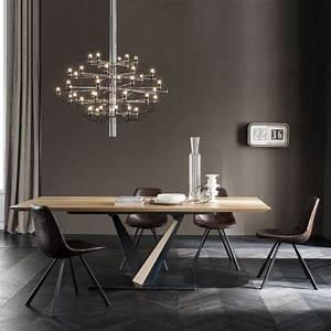 Pied De Table Industriel : table design style industriel avec pied central en v et ~ Dailycaller-alerts.com Idées de Décoration