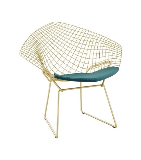 bertoia chaise bertoia knoll chair in gold milia shop