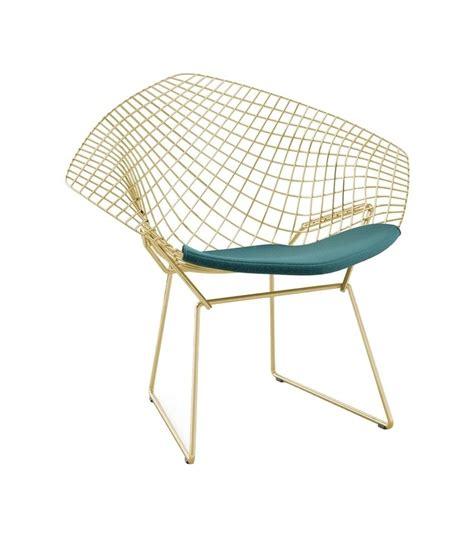 Bertoia Diamond Knoll Chair In Gold  Milia Shop