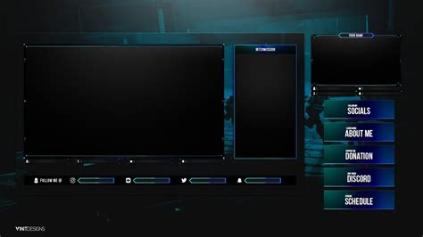 animated fortnite twitch  stream overlay package