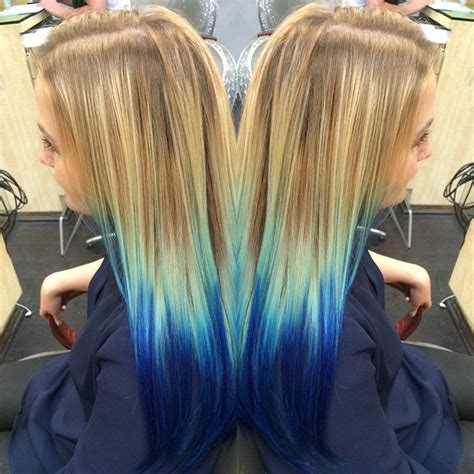 Hair Painted From Blonde To Blue Hair Colors Ideas