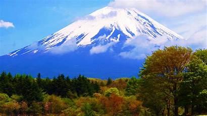 Fuji Japan Mount Wallpapers Mountain Mountains Mt