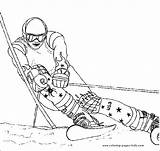 Coloring Pages Skiing Sports Printable Ski Racer Others Sheet Selection Sheets Found Sport Race sketch template