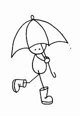 Umbrella Coloring Pages Printable Hop Payong Sock Cliparts Clipart Cartoon 2007 Beach Under Rainy Days Cards Colouring Library Getcolorings Pop sketch template