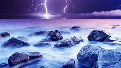 Lightning Desktop Wallpapers Nature Backgrounds Cool Violet