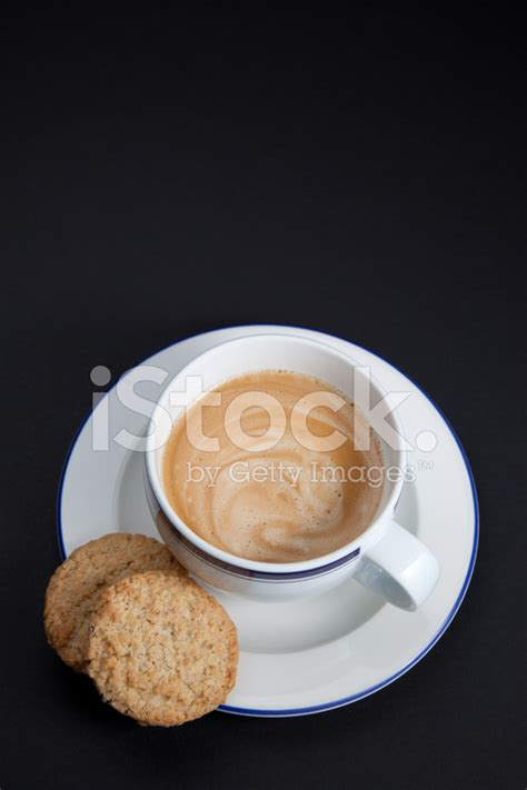 Dreamstime is the world`s largest stock photography community. Coffee Cup and Cookies on Black Background Stock Photos - FreeImages.com