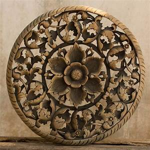 Tree dimensional floral wooden wall hanging siam sawadee