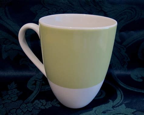 Starbucks Coffee Mug Cup Collectible Green With Yellow