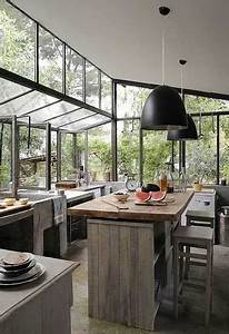 Pinterest Deco Cuisine : cuisine verri re 12 cuisines lumineuses ouvertes sur le jardin ~ Preciouscoupons.com Idées de Décoration