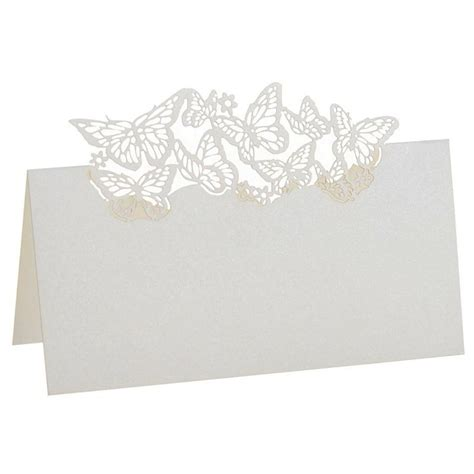 pcs butterfly table place seat  seat card wedding