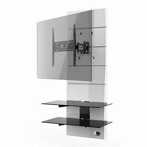 Pied Pour Ecran Plat : meliconi ghost design 3000 rotation blanc meuble tv ~ Dailycaller-alerts.com Idées de Décoration