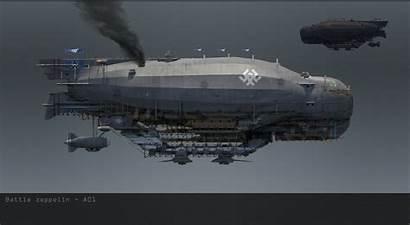 Zeppelin Concept Artstation Ship Battle Deviantart Designs
