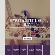 How Much Makeup Do You Really Need? → 💄 Makeup