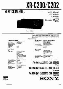 Sony Xr-c200  Xr-c202 Service Manual