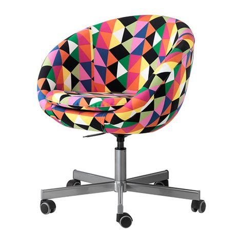 skruvsta swivel chair majviken multicolour ikea