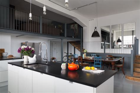 Urban Warehouse Flat  Eclectic  Kitchen  London By