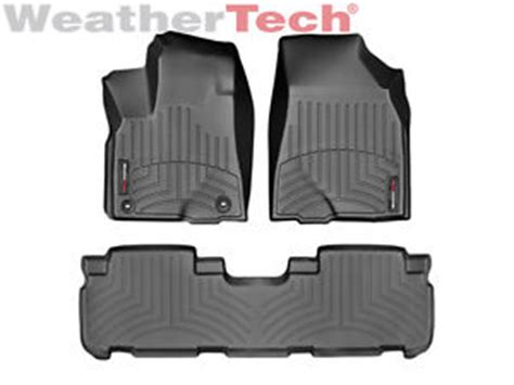 weathertech floor mats toyota highlander 2017 weathertech floor mats floorliner for toyota highlander 2014 2016 black ebay