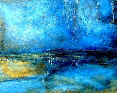 Abstract Black And Blue Painting by Desert Lightning An Abstract Blue And Black Painting With